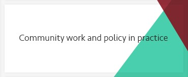 Community work and policy in practice